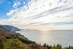 Opinión de Cabot Trail Scenic Imagen de archivo