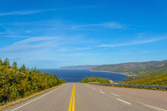 Opinión de Cabot Trail Scenic Fotografía de archivo