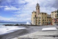 Opinión de Camogli - Italia Imagen de archivo libre de regalías