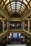 Opinión de capital del interior del edificio Fotos de archivo