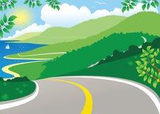 Opinión de carretera costera Libre Illustration