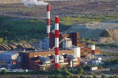 Opinión de central eléctrica de la energía Foto de archivo libre de regalías