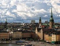 Opinión de centro de ciudad de Estocolmo fotografía de archivo libre de regalías