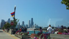 Opinión de Chicago Foto de archivo