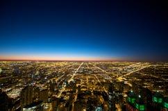 Opinión de Chicago del edificio de Hancock Imagen de archivo