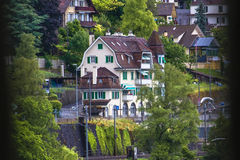 Opinión 2 de Chillon del castillo fotografía de archivo