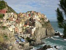 Opinión de Cinque Terre en Italia Foto de archivo libre de regalías