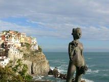 Opinión de Cinque Terre en Italia Imagen de archivo libre de regalías