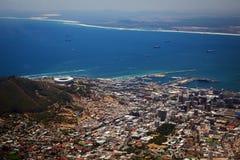 Opinión de Ciudad del Cabo Fotos de archivo