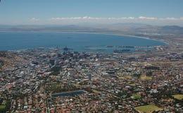 Opinión de Ciudad del Cabo Fotografía de archivo