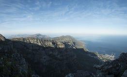 Opinión de Ciudad del Cabo de la montaña de la tabla imagen de archivo libre de regalías