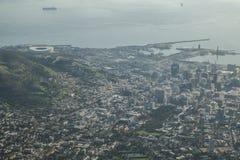 Opinión de Ciudad del Cabo de la montaña de la tabla imágenes de archivo libres de regalías