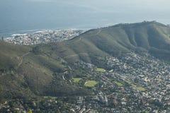 Opinión de Ciudad del Cabo de la montaña de la tabla foto de archivo libre de regalías