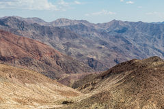 Opinión de Dante's - parque nacional de Death Valley, California, los E.E.U.U. Imagen de archivo