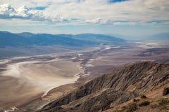 Opinión de Dante's - parque nacional de Death Valley, California, los E.E.U.U. Foto de archivo