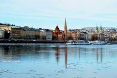 Opinión de Danubio Foto de archivo libre de regalías