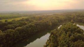 Opinión de Danubio del río almacen de video