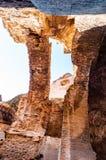 Opinión de debajo sobre pasillo de la galería de los arcos en el Domus Severiana que es el nombre moderno dado a la extensión fin imágenes de archivo libres de regalías