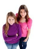 Opinión de dos diversa hermanas desde arriba Imagen de archivo