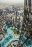 Opinión de Dubai de Burj Khalifa Imagen de archivo