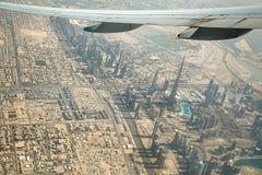 Opinión de Dubai del aire Imágenes de archivo libres de regalías