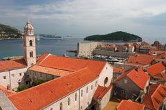 Opinión de Dubrovnik Foto de archivo