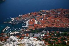 Opinión de Dubrovnik Imagen de archivo libre de regalías
