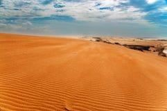 Opinión de duna de arena de Taroa Imágenes de archivo libres de regalías