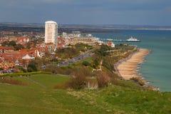 Opinión de Eastbourne imagen de archivo