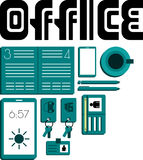 Opinión de escritorio de oficina Imagen de archivo