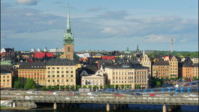 Opinión de Estocolmo, Suecia, timelapse, 4k almacen de metraje de vídeo