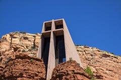 Opinión de Exteropr de la capilla de la cruz santa Foto de archivo libre de regalías