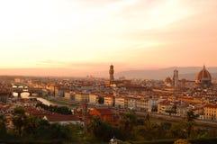 Opinión de Florencia de Piazzale Michelangelo Imagen de archivo libre de regalías