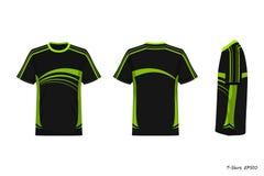 Opinión de Front Back Side de la camisa de deporte aislada en el fondo blanco, ilustración del vector