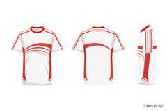 Opinión de Front Back Side de la camisa de deporte aislada en el fondo blanco, ejemplo, ropa de deportes libre illustration