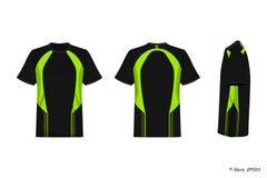 Opinión de Front Back Side de la camisa de deporte aislada en el fondo blanco, ejemplo, sportwear ilustración del vector