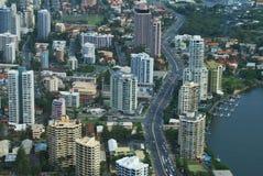 Opinión de Gold Coast Fotos de archivo libres de regalías