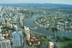 Opinión de Gold Coast Imagen de archivo
