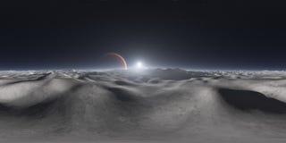 opinión de 360 grados de la luna de Júpiter, proyección equirectangular, mapa del ambiente Panorama esférico de HDRI Fondo del es