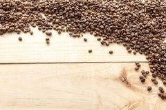 Opinión de granos de café desde arriba Fotografía de archivo libre de regalías