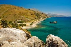 Opinión de Grecia sobre la playa foto de archivo