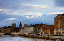 Opinión de Grenoble fotos de archivo libres de regalías