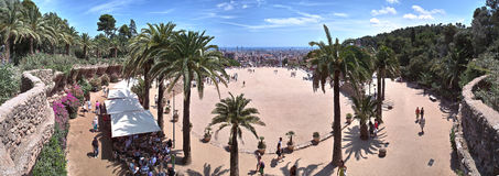 Opinión de Guel Barcelona 180 del parque Fotos de archivo