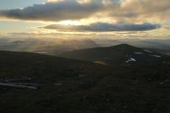 Opinión de HDR de la montaña sueca Ansaett Fotografía de archivo libre de regalías