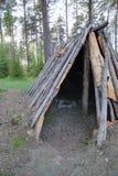 Opinión de HDR en la tienda Naesaaker de la Edad de Piedra en Suecia Imagen de archivo libre de regalías