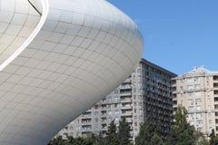 Opinión de Heydar Aliyev Center Baku Azerbaijan Fotos de archivo libres de regalías