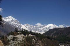 Opinión de Himalaya Fotos de archivo