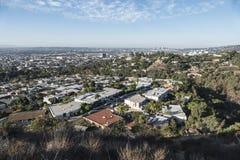 Opinión de Hollywood Hills Fotos de archivo