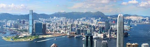 Opinión de Hong-Kong Foto de archivo libre de regalías