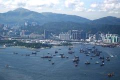 Opinión de Hong-Kong Fotografía de archivo libre de regalías